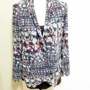 Anthropologie Watercolor Double-breasted Jacket S